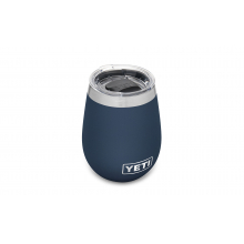 Rambler 10 oz Wine Tumbler with Magslider Lid - Navy