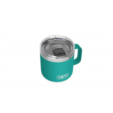 Rambler 14 oz Mug with Magslider Lid - Aquifer Blue