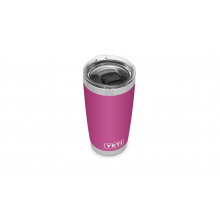 Rambler 20 oz Tumbler with Magslider Lid - Prickly Pear Pink
