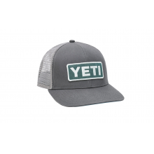 Mid-Pro Logo Badge Trucker Hat - Dark Gray / Aquifer Blue