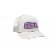 Mid-Pro Logo Badge Trucker Hat - Light Gray / Prickly Pear by YETI