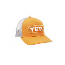 Mid-Pro Logo Badge Trucker Hat - King Crab Orange / White by YETI