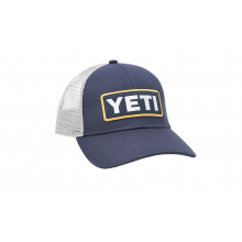 Low-Profile Badge Trucker Hat - Navy / King Crab Orange by YETI