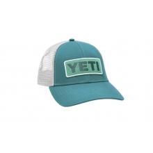 Low-Profile Badge Trucker Hat - Green / Aquifer Blue