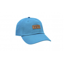 Badge Logo Leather Soft Crown Hat - Aquifer Blue by YETI