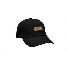 Badge Logo Leather Soft Crown Hat - Black by YETI