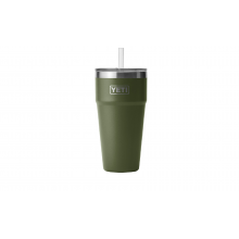 Rambler 26 oz Stackable Cup with Straw Lid - Highlands Olive by YETI in Traverse City MI