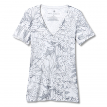 Women's All Over Floral V-Neck S/S by Royal Robbins in Chelan WA
