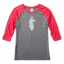 Women's Llama Baseball T-Shirt by Cotopaxi in Chelan WA