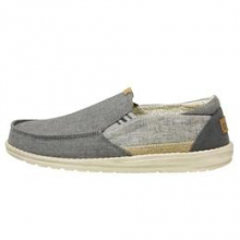 Men's Thad Chambray Ghost Grey by Hey Dude in Knoxville TN