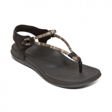 Women's Bailey Slingback Thong Black by Aetrex
