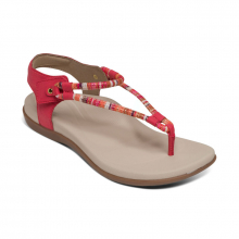 Women's Bailey Slingback Thong Red by Aetrex