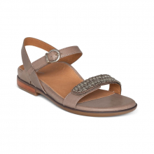 Women's Rylie Beaded Qtr Strap Taupe by Aetrex in Clovis NM