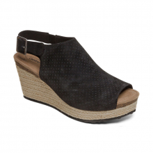 SHERRY PERF ESPADRILLE SANDAL BLK by Aetrex