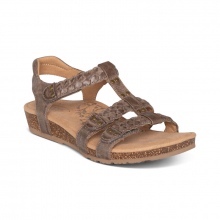 Women's Reese Braided Gladiator Taupe by Aetrex in Knoxville TN