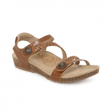Women's Jillian Q Braid Strap Cognac