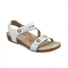 Women's Jillian Q Braid Strap Wht