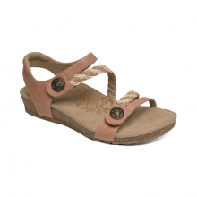 Women's Jillian Q Braid Strap Blush by Aetrex