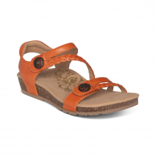 Women's Jillian Q Braid Strap Tangerine by Aetrex