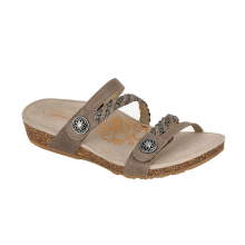 Women's Janey Q Braid Strap Slide Stn by Aetrex in Ames IA