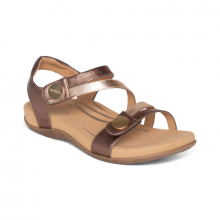 Women's Jess Qtr Strap Bronze by Aetrex in Garden City KS