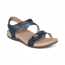 Women's Jess Qtr Strap Navy by Aetrex in St Joseph MO