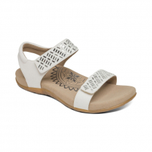 Women's Marcy Embellished Qtr Strap White by Aetrex in Grand Island NE