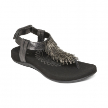 Women's Portia Beaded Slngbck Thng Black by Aetrex in Squamish BC