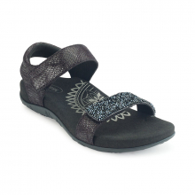 Women's Maria Jeweled Qtr Strap Black