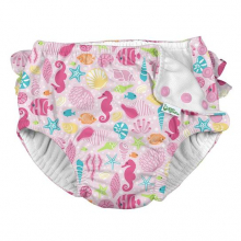 Ruffle Snap Reusable Absorbent Swimsuit Diaper by Green Sprouts, Inc.