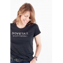 Dovetail Logo Tee in Black
