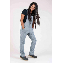 Women's Freshley Overall in Indigo Stripe