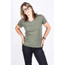 Women's Solid V by Dovetail Workwear in Chelan WA