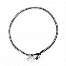 Great White Shark Braided Bracelet, Small - Gray, White & Black by 4ocean