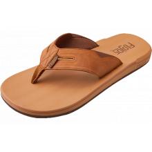 Men's Chimi Faux Leather Upper On Comfort Footbed Flip Flop