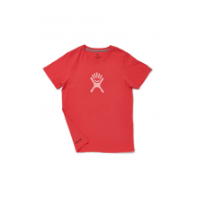 Cotton SS Tee Women's Colored Logo by Hydro Flask in Red Deer Ab