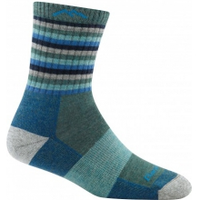 Women's Stripes Micro Crew Sock Cushion by Darn Tough in Blacksburg VA