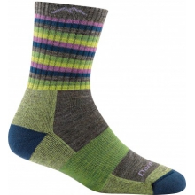 Women's Stripes Micro Crew Sock Cushion by Darn Tough