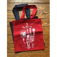 Bloody Mary Patent Grocery Store Tote