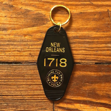 New Orleans 1718 Motel Keychain by Dirty Coast in Squamish BC