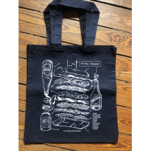 PoBoy Patent Grocery Store Tote by Dirty Coast