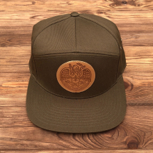 Acadiana Self-Reliance Leather Patch Hat by Dirty Coast in Squamish BC