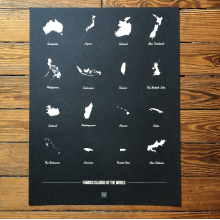 Famous Islands of the World Print