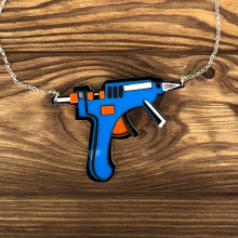 Glue Gun Necklace by Poly Paige by Dirty Coast