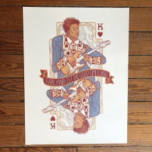 King Of Hearts Print by Dirty Coast