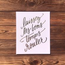 Laissez Les Bons Temps Rouler Foil Print by Lionheart