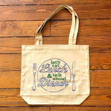 Let's Eat Lunch Tote