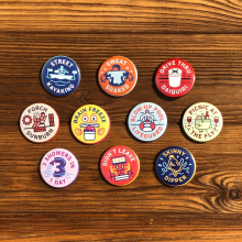NOLA Merit Badges - Surviving Summer Button Set by Dirty Coast in Squamish BC