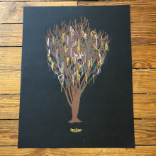 Our Trees Have Bling Print by Dirty Coast
