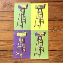 Parade Ladders Pop Art Print by Dirty Coast